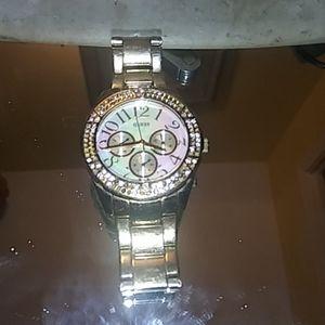 Unisex Guess Waterpro Gold watch